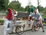 Free Stock Photo: Posing drivers at the 2009 Red Bull Soap Box Derby in Atlanta, Georgia