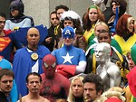 Free Stock Photo: A group of superheroes in costume at Dragoncon 2009 in Atlanta, Georgia