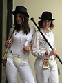 Free Stock Photo: Girls in Clockwork Orange costumes at Dragoncon 2009 in Atlanta, Georgia