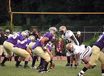 Free Stock Photo: High school football players lined up at the line of scrimmage