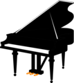 Free Stock Photo: Illustration of a grand piano