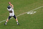Free Stock Photo: A high school football player making a catch