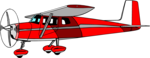 Free Stock Photo: Illustration of a red cessna airplane