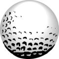 Free Stock Photo: Illustration of a golf ball