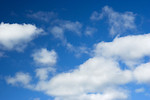 Free Stock Photo: A blue sky with white clouds