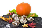 Free Stock Photo: Halloween cupcakes with a pumpkin