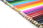 Free Stock Photo: Colored pencils isolated on a white background