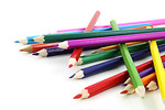Free Stock Photo: A pile of colored pencils