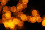 Free Stock Photo: Blurred orange lights