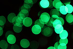 Free Stock Photo: Blurred green lights