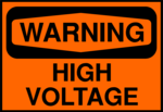 Free Stock Photo: Illustration of a high voltage warning sign