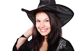 Free Stock Photo: A beautiful girl in a Halloween witch costume