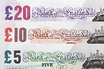 Free Stock Photo: Several British bank notes
