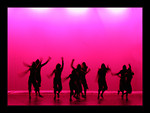 Free Stock Photo: Silhouettes of girls dancing