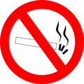 Free Stock Photo: Illustration of a no smoking symbol.