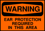 Free Stock Photo: Illustration of an ear protection warning sign