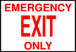 Free Stock Photo: Illustration of an emergency exit sign