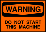 Free Stock Photo: Illustration of a machine warning sign