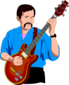 Free Stock Photo: Illustration of a man playing an electric guitar