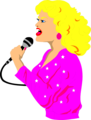 Free Stock Photo: Illustration of a beautiful blond singer