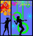 Free Stock Photo: Illustration of dancing silhouettes