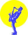 Free Stock Photo: Illustration of a man playing a saxophone