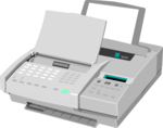 Free Stock Photo: Illustration of a fax machine