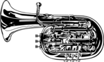 Free Stock Photo: Illustration of a tuba